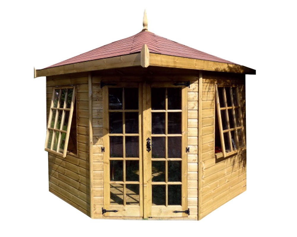Hipped Roof Corner Summerhouse The Shed Centre