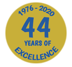 44 years of excellence badge